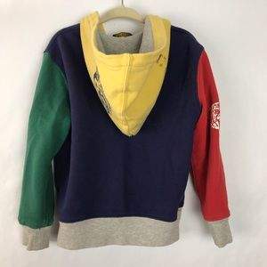 Polo by Ralph Lauren Shirts & Tops - Polo Ralph Lauren hoodie multicolored varsity 4t